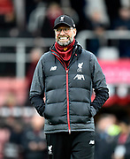 Liverpool manager Jurgen Klopp during the warm up ahead of the Premier League match between Bournemouth and Liverpool at the Vitality Stadium, Bournemouth, England on 7 December 2019.