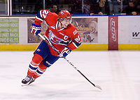 KELOWNA, CANADA, DECEMBER 27: Darren Kramer #22 of the Spokane Chiefs skates on the ice at the Kelowna Rockets on December 7, 2011 at Prospera Place in Kelowna, British Columbia, Canada (Photo by Marissa Baecker/Getty Images) *** Local Caption ***