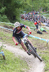 01.06.2014, Bullentaele, Albstadt, GER, UCI Mountain Bike World Cup, Cross Country Herren, im Bild Andres Soto Argentinien // during Mens Cross Country Race of UCI Mountainbike Worldcup at the Bullentaele in Albstadt, Germany on 2014/06/01. EXPA Pictures © 2014, PhotoCredit: EXPA/ Eibner-Pressefoto/ Langer<br /> <br /> *****ATTENTION - OUT of GER*****