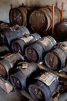 Barrels of Balsamic vinegar in Modena, Italy - Photograph by Owen Franken