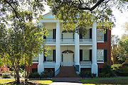 Rosalie 19th Century Greek Revival style antebellum plantation mansion house Natchez, Mississippi USA