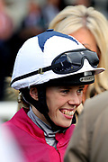 Jockey Faye McManoman during the October Finale Meeting at York Racecourse, York, United Kingdom on 11 October 2019.