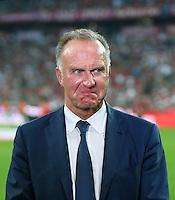 Fussball  1. Bundesliga  Saison 2016/2017  1. Spieltag  FC Bayern Muenchen - SV Werder Bremen      26.08.2016 Vorstandsvorsitzender Karl Heinz Rummenigge (FC Bayern Muenchen) nachdenklich