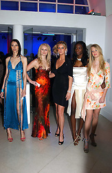 Centre Model RACHEL HUNTER (in black) with contestants from her TV show 'Make me a Supermodel' EMILY MANN, JOANNE DOWNES, ANTOINETTE WILLIAMS and SAM ROWLEY at the Art Plus Dance Party 2005 - an evening of live dance, film and partying held at the Whitechapel Art Gallery, 80-82 Whitechapel High Street, London on 21st March 2005.<br />