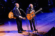 Photos of Peter Yarrow and Noel Paul Stookey of Peter, Paul & Mary at the Phil Ramone Music Memorial Celebration concert event at Salvation Army Theater, NYC. May 11, 2013. Copyright © 2013 Matthew Eisman. All Rights Reserved