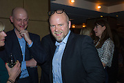 RACHEL JOHNSON; HARRY MOUNT; TOBY YOUNG, Spectator Life - 3rd birthday party. Belgraves Hotel, 20 Chesham Place, London, SW1X 8HQ, 31 March 2015