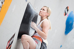 Tjasa Kalan (SLO) at Semifinal of Climbing event - Triglav the Rock Ljubljana 2018, on May 19, 2018 in Congress Square, Ljubljana, Slovenia. Photo by Urban Urbanc / Sportida