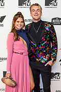 MTV EMA pre-party 2019 in het Westergastheater, Amsterdam.<br /> <br /> Op de foto:  Britt Scholte and Stefan de Vries