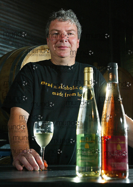 Alvinston, Ontario ---02/06/07--- John Bryans of Alvinston, Ontario has been selling mead, an ancient wine made from honey, for 7 years and has seen the demand continually grow..GEOFF ROBINS The Globe and Mail