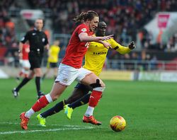 Luke Ayling of Bristol City attempts to go on the attack.  Mandatory byline: Alex Davidson/JMP - 16/01/2016 - FOOTBALL - Ashton Gate - Bristol, England - Bristol City v Middlesbrough - Sky Bet Championship