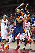 FAYETTEVILLE, AR - DECEMBER 19:  Marshun Newell #25 of the UT Martin Skyhawks goes up for a shot against the Arkansas Razorbacks at Bud Walton Arena on December 19, 2013 in Fayetteville, Arkansas.  The Razorbacks defeated the Skyhawks 102-56.  (Photo by Wesley Hitt/Getty Images) *** Local Caption *** Marshun Newell