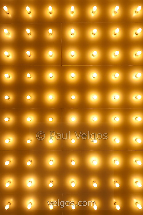 Theater Lights in Rows Photo | Buy Canvas Prints, Large Wall Art and ...