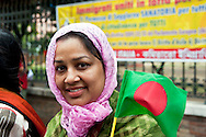 Roma 9 Giugno 2012.Attivisti politici del Partito Nazionalista del Bangladesh (Bangladesh Nationalist Party), del leader Begum Khaleda Zia, protestano contro il governo del Bangladesh per l'arresto di circa 30.000 attivisti dell?opposizione, 180 leader nazionali dell?opposizione compresi i membri del Parlamento e i leader di i tutti partiti politici di coalizione,  compreso il Segretario Generale del Partito BNP Mirza Fokrul Islam Alamgir.Chiedono l'attenzione della comunità internazionale sulla  attuale situazione del Bangladesh..Protest against the violation of human rights in Bangladesh