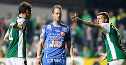 15.05.2015, Sportplatz FAC, Wien, AUT, 2. FBL, Floridsdorfer AC vs SV Mattersburg, 34. Runde, im Bild Nedeljko Malic (SV Mattersburg) , Lukas Moessner (Floridsorfer AC) und Alois Höller (SV Mattersburg) // during Austrian Football Second Bundesliga Match, 34th round, between Floridsdorfer AC and SV Mattersburg at the Sportplatz FAC, Vienna, Austria on 2015/05/15. EXPA Pictures © 2015, PhotoCredit: EXPA/ Alexander Forst
