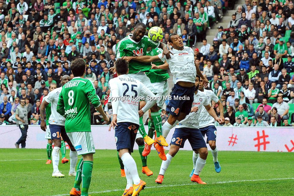 Kevin THEOPHILE CATHERINE - 26.04.2015 - Saint Etienne / Montpellier - 34eme journee de Ligue 1<br />Photo : Jean Paul Thomas / Icon Sport