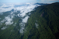 Aerial view of the Foja Mts.