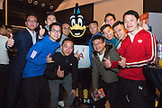 AIA Championship participating teams, IA ExCo, AIA Guests mingling during the welcome reception for  AIA Championship 2017 at Watermark, Central Hong Kong on March 02, 2017 in Hong Kong. <br /> (Photo by Moses Ng via MozImages)