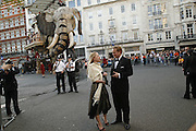 James Machlachlan and Kate Huxtable in front of The Sultan's Elephant, Ark Gala Dinner, Marlborough House, London. 5 May 2006. ONE TIME USE ONLY - DO NOT ARCHIVE  © Copyright Photograph by Dafydd Jones 66 Stockwell Park Rd. London SW9 0DA Tel 020 7733 0108 www.dafjones.com