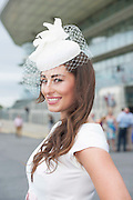 28/07/2014   Andrea Guerrero from Ennis  at the first evening of the Galway Summer Racing Festival at Ballybrit in Galway City. Photo:Andrew Downes