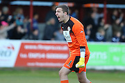 Ross Etheridge goalkeeper Accrington Stanley (1) celebrates Accrington Stanley Football Club scoring making the tie 1-1 during the Sky Bet League 2 play-off 2nd leg match between Accrington Stanley and AFC Wimbledon at the Fraser Eagle Stadium, Accrington, England on 18 May 2016. Photo by Stuart Butcher.