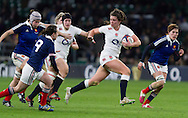 Abbie Scott in action, England Women v France Women in the 6 Nations at Twickenham Stadium, Twickenham, England, on 21st March 2015