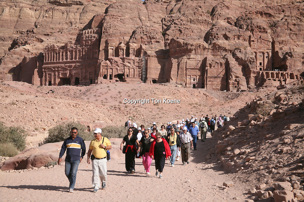 Petra, ancient city in Jordan is a popular tourist spot