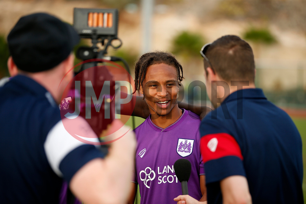 Bobby Reid of Bristol City is interviewed - Mandatory by-line: Matt McNulty/JMP - 22/07/2017 - FOOTBALL - Tenerife Top Training - Costa Adeje, Tenerife - Bristol City v Atletico Union Guimar  - Pre-Season Friendly