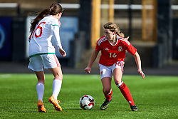 MERTHYR, WALES - Thursday, February 16, 2017: Wales' Cassia Pike in action during a Women's Under-17's International Friendly match against Hungary at Penydarren Park. (Pic by Laura Malkin/Propaganda)