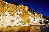 Fishing, Gallatin River Canyon, Montana (near Yellowstone National Park) USA