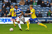 Ezgjan Alioski (10) of Leeds United on the attack during the The FA Cup 3rd round match between Queens Park Rangers and Leeds United at the Loftus Road Stadium, London, England on 6 January 2019.