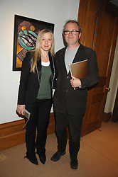 HARRY & LUCY ENFIELD at a private view of Paul Simonon's recent paintings held at Thomas Williams Fine Art, 22 Old Bond Street, London on 15th April 2008.<br />