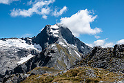 The Gillespie Pass Circuit follows the Young and Wilkin Rivers in Mount Aspiring National Park, in the Southern Alps. Makarora, Otago region, South Island of New Zealand.
