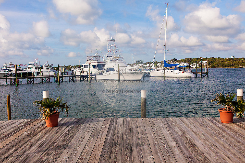 View of the Green Turtle Marina at Green Turtle Cay, Bahamas.