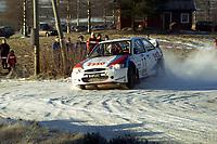 Motorsport, Rally Solør 2000. Trond Sveinsvoll / Bent Helle Jensen Ford Escort WRC