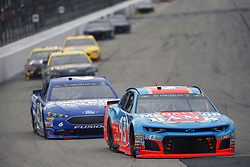 July 22, 2018 - Loudon, New Hampshire, United States of America - Darrell Wallace, Jr (43) battles for position during the Foxwoods Resort Casino 301 at New Hampshire Motor Speedway in Loudon, New Hampshire. (Credit Image: © Justin R. Noe Asp Inc/ASP via ZUMA Wire)