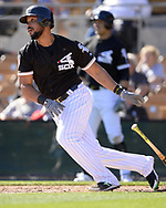 GLENDALE, ARIZONA - FEBRUARY 25:  Jose Abreu #79 of the Chicago White Sox bats against the Cincinnati Reds on February 25, 2018 at Camelback Ranch in Glendale Arizona.  (Photo by Ron Vesely)  Subject:   Jose Abreu