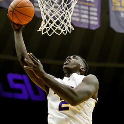 Jan 5, 2013; Baton Rouge, LA, USA; LSU Tigers forward Johnny O'Bryant III (2) shoots against the Bethune-Cookman Wildcats during the first half of a game at the Pete Maravich Assembly Center. Mandatory Credit: Derick E. Hingle-USA TODAY Sports