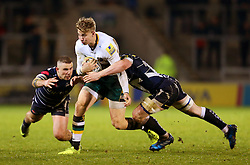 Harry Mallinder of Northampton Saints takes on Mark Jennings of Sale Sharks - Mandatory by-line: Matt McNulty/JMP - 03/03/2017 - RUGBY - AJ Bell Stadium - Sale, England - Sale Sharks v Northampton Saints - Aviva Premiership