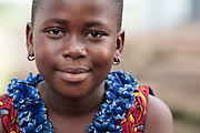 Portrait of a girl in Katiola, Cote d'Ivoire on Saturday July 13, 2013.