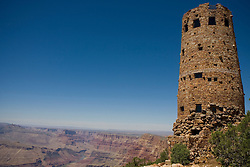 The Watch Tower overlooks the southern rim of the Grand Canyon, Grand Canyon National Park, Arizona