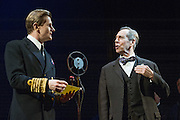 26/03/2012. London, UK. Playful Productions and Michael Alden present the stage production of The Kings Speech, by David Seidler, at Wyndhams Theatre, London.Picture shows: Charles Edwards as Bertie (King George VI) Jonathan Hyde as Lionel. Photo credit : Tony Nandi