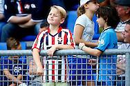 01-08-2015 VOETBAL: WILLEM II - SIVASSPOR:TILBURG<br /> Vriendschappelijke wedstrijd van Willem II op de Koningsdag 2015<br /> <br /> Jonge supporters op de tribune<br /> <br /> Foto: Geert van Erven
