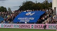 FC Helsingør fans med tifo før kampen i 2. Division mellem FC Helsingør og Boldklubben Avarta den 16. august 2019, på Helsingør Ny Stadion (Foto: Claus Birch)