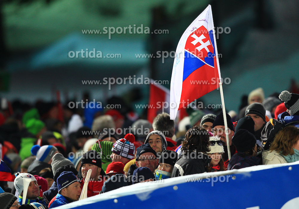 29.12.2012, Panoramapiste, Semmering, AUT, FIS Weltcup Ski Alpin, Slalom, Damen, 2. Lauf, im Bild Feature Fans  // after the 2nd run of the ladies slalom of the FIS Ski Alpine World Cup at the Panoramapiste course, Semmering, Austria on 2012/12/29. EXPA Pictures © 2012, PhotoCredit: EXPA/ Stephan Woldron
