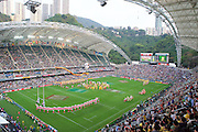 The opening ceremony during the Hong Kong Sevens 2015 opening ceremony at Hong Kong Stadium, Hong Kong on 27 March 2015. Photo by Ian Muir....during the Hong Kong Sevens 2015 match between ........... at Hong Kong Stadium, Hong Kong on 27 March 2015. Photo by Ian Muir.