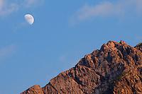 Moon above Augstenberg, Malbun, Liechtenstein