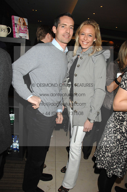 LADY ALEXANDRA SPENCER-CHURCHILL and NICK WARNER at a party to celebrate the publication of Lisa B's book 'Lifestyle Essentials' held at the Cook Book Cafe, Intercontinental Hotel, Park Lane London on 10th April 2008.<br />
