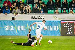 Roman Bezjak of Slovenia during friendly football match between National teams of !Slovenia and Belarus, on March 27, 2018 in SRC Stozice, Ljubljana, Slovenia. Photo by Vid Ponikvar / Sportida