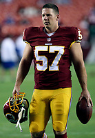 September 25, 2014: Washington Redskins center Nick Sundberg (57) in action before a match between the Washington Redskins and the New York Giants at FedEx field in Landover, Maryland. NFL American Football Herren USA SEP 25 Giants at Redskins PUBLICATIONxINxGERxSUIxAUTxHUNxRUSxSWExNORxONLY Icon14092551<br /> <br /> September 25 2014 Washington Redskins Center Nick Sundberg 57 in Action Before A Match between The Washington Redskins and The New York Giants AT FedEx Field in Landover Maryland NFL American Football men USA Sep 25 Giants AT Redskins PUBLICATIONxINxGERxSUIxAUTxHUNxRUSxSWExNORxONLY