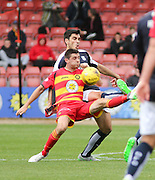 Dundee's Julen Etxabeguren and Partick Thistle&rsquo;s Kris Doolan - Partick Thistle v Dundee, Ladbrokes Premiership at Firhill<br /> <br />  - &copy; David Young - www.davidyoungphoto.co.uk - email: davidyoungphoto@gmail.com